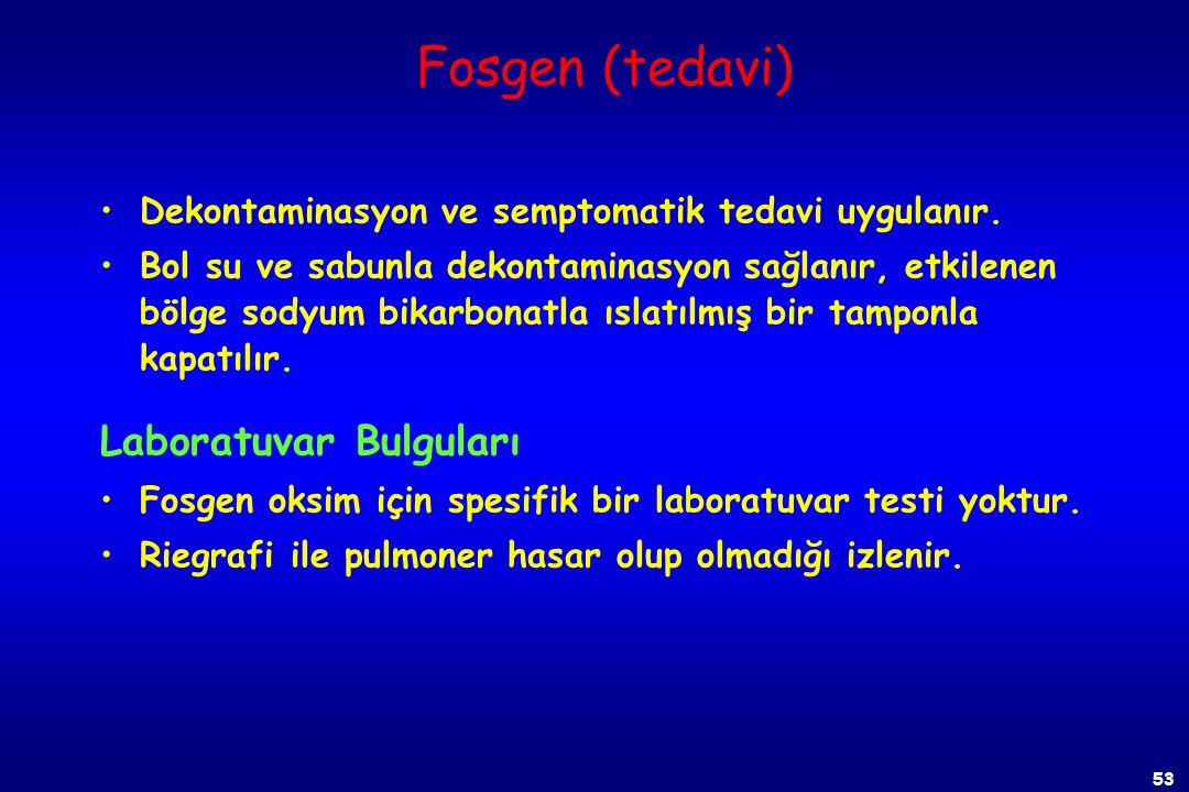 Fosgen (tedavi) Laboratuvar Bulguları