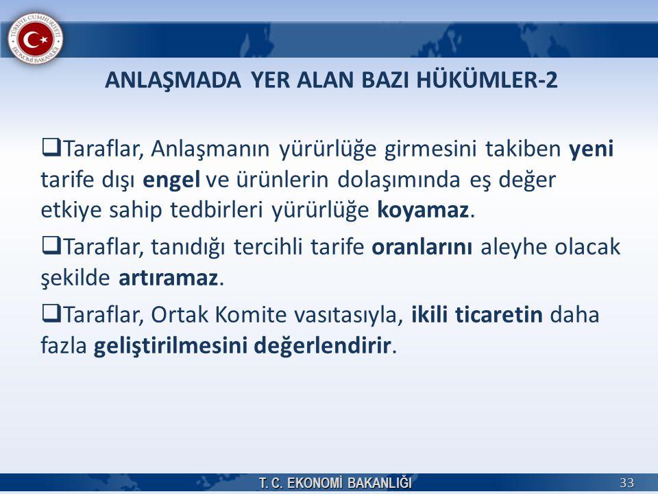 ANLAŞMADA YER ALAN BAZI HÜKÜMLER-2