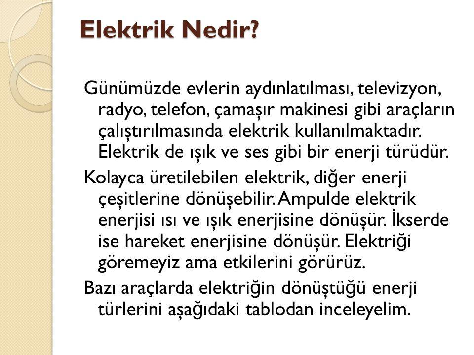 Elektrik Nedir