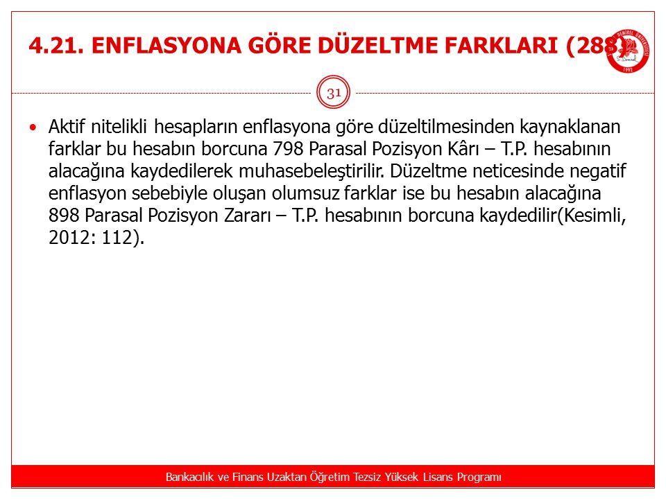 4.21. ENFLASYONA GÖRE DÜZELTME FARKLARI (288)