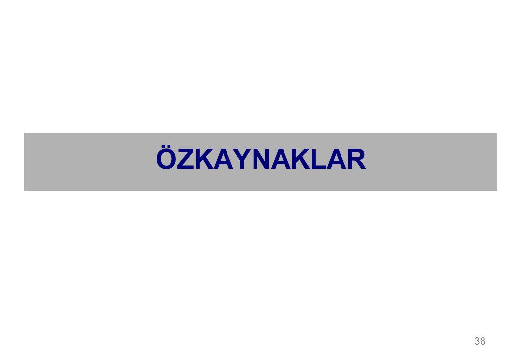 ÖZKAYNAKLAR 38
