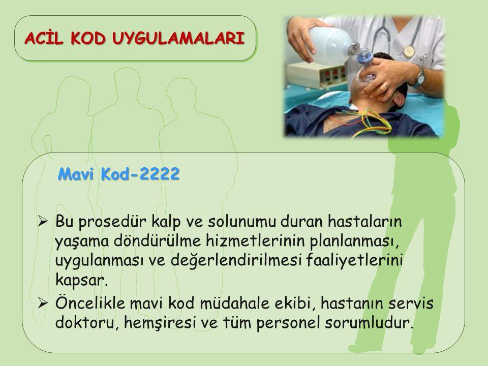 ACİL KOD UYGULAMALARI Mavi Kod-2222.