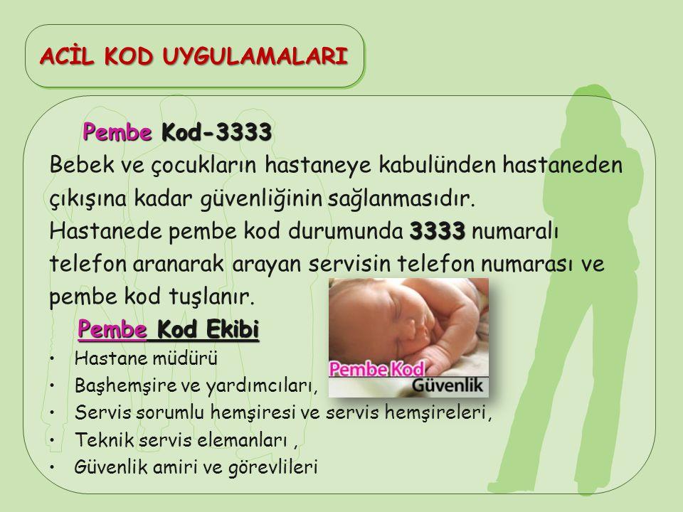 Bebek ve çocukların hastaneye kabulünden hastaneden