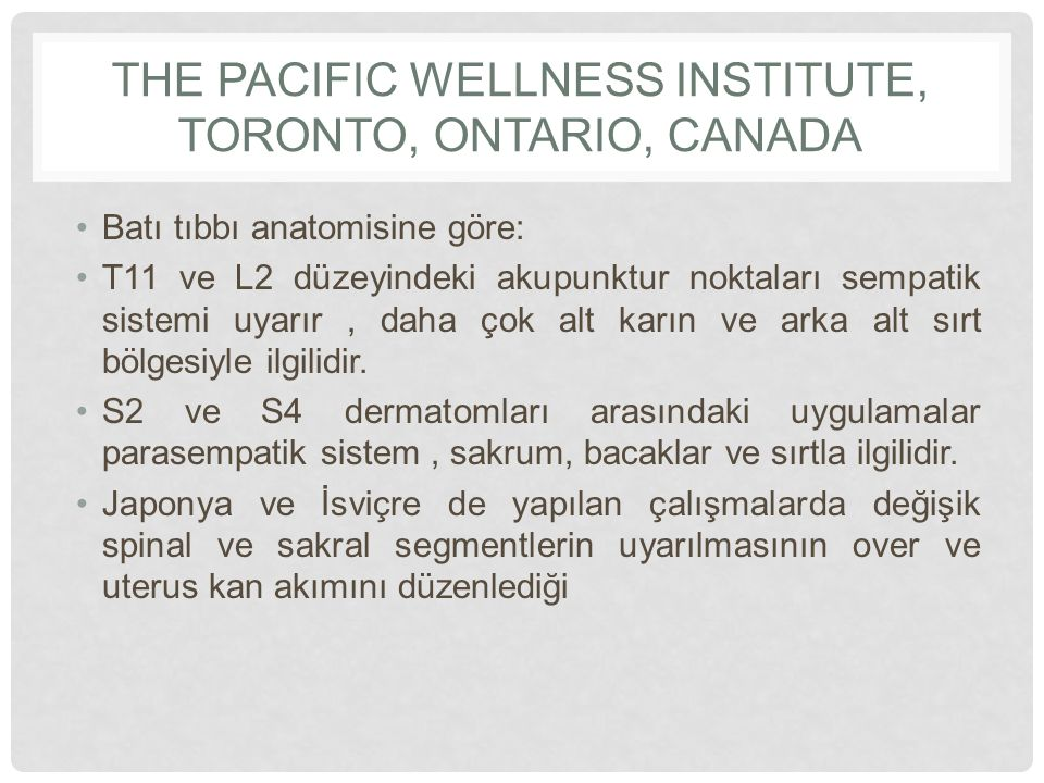 The Pacific Wellness Institute, Toronto, Ontario, Canada