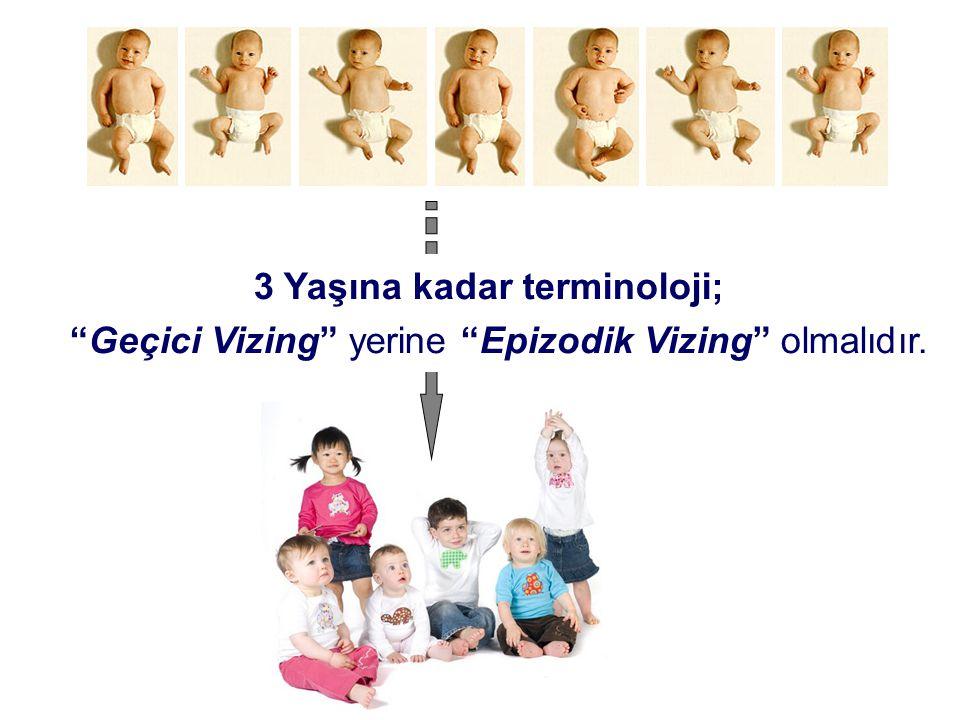 3 Yaşına kadar terminoloji;