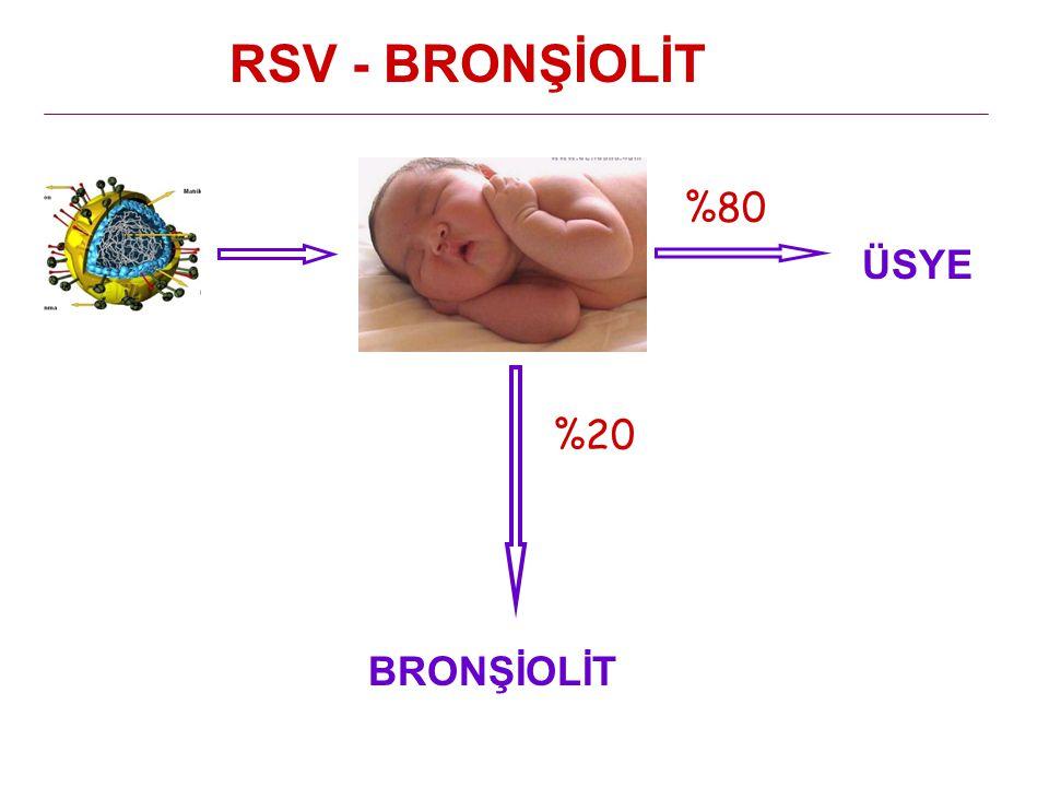 RSV - BRONŞİOLİT %80 ÜSYE %20 BRONŞİOLİT