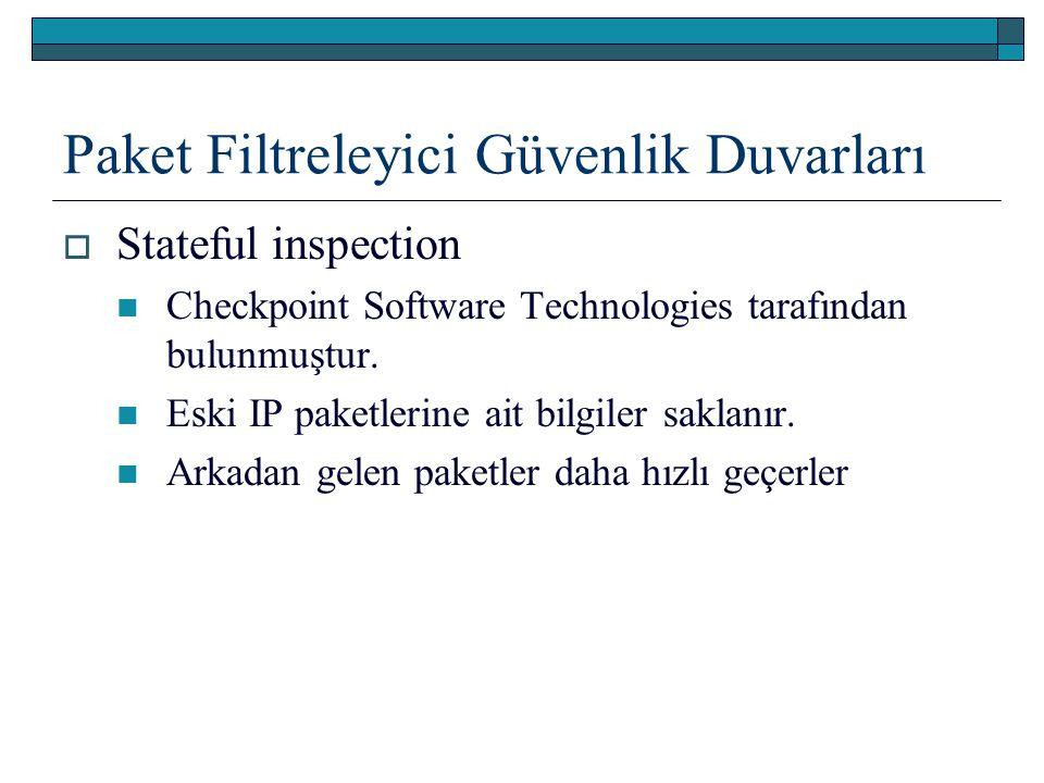 Paket Filtreleyici Güvenlik Duvarları