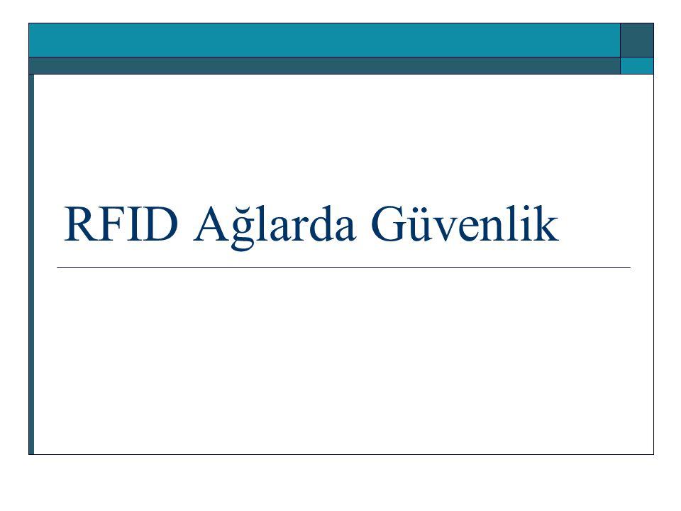 RFID Ağlarda Güvenlik