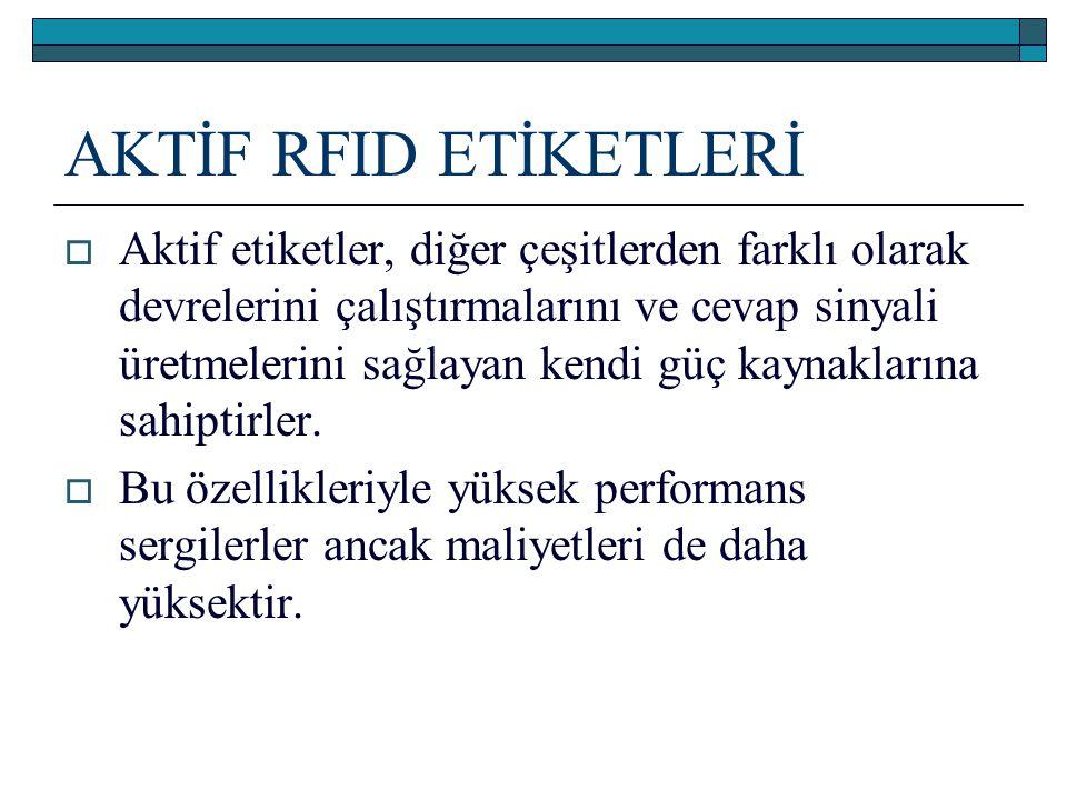 AKTİF RFID ETİKETLERİ