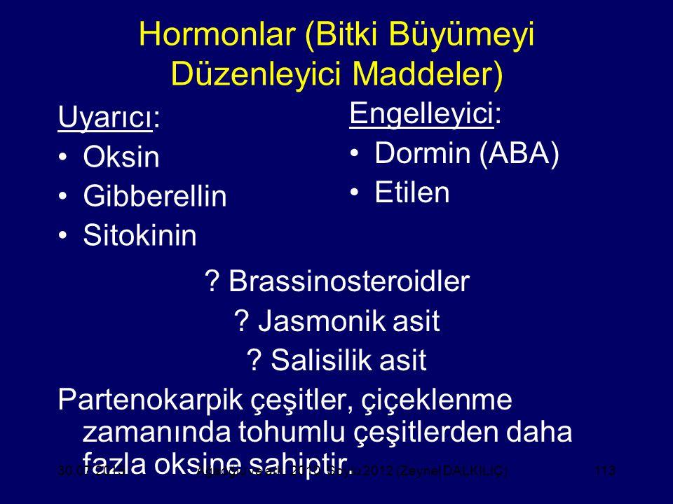 Hormonlar (Bitki Büyümeyi Düzenleyici Maddeler)