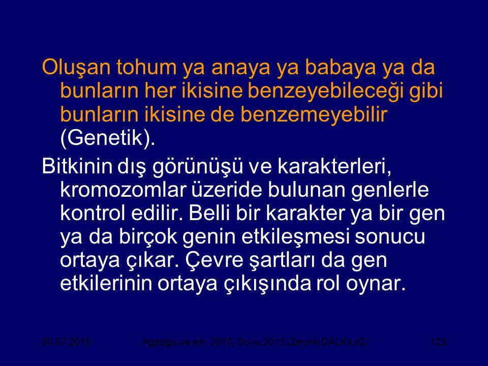 Ağaoğlu ve ark. 2010, Soylu 2012 (Zeynel DALKILIÇ)