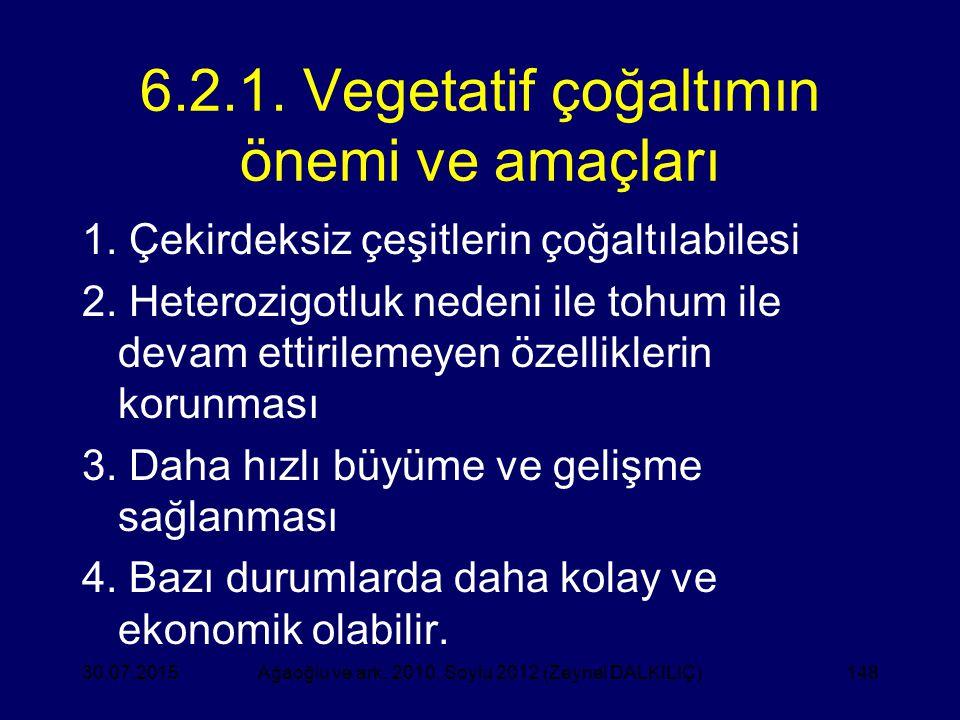 6.2.1. Vegetatif çoğaltımın önemi ve amaçları