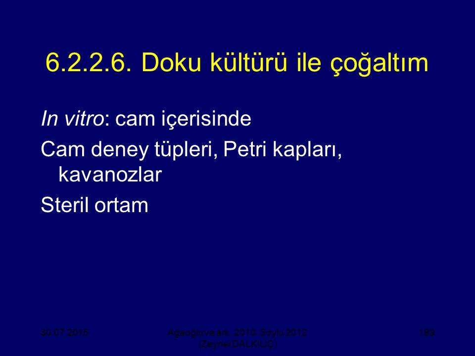6.2.2.6. Doku kültürü ile çoğaltım
