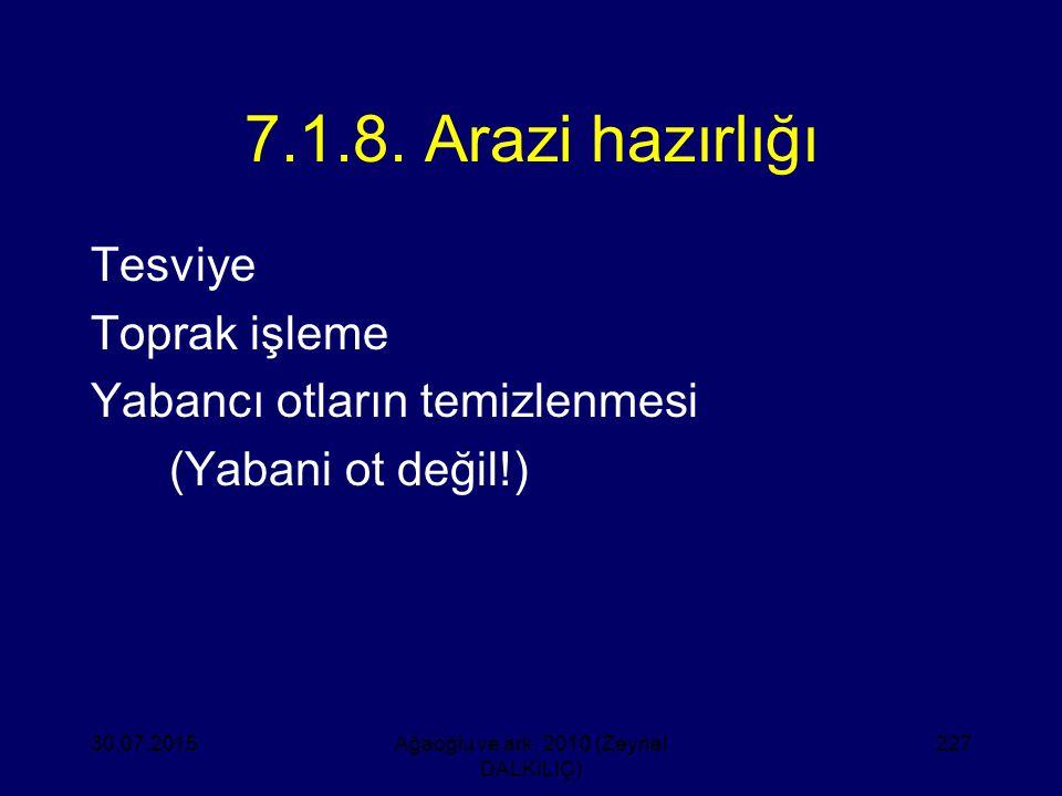 Ağaoğlu ve ark. 2010 (Zeynel DALKILIÇ)