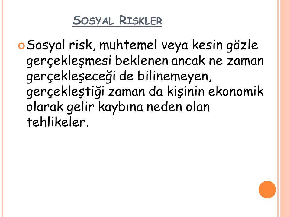 Sosyal Riskler