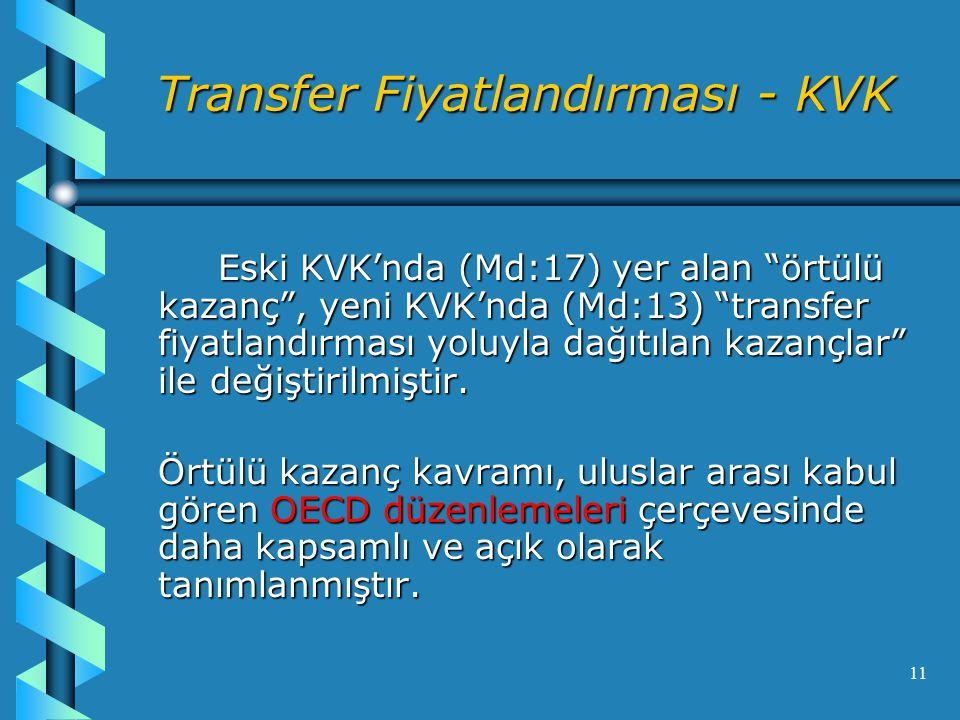 Transfer Fiyatlandırması - KVK