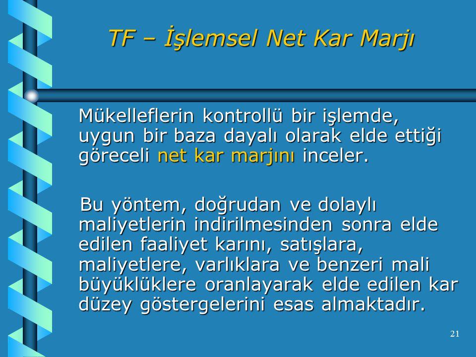 TF – İşlemsel Net Kar Marjı