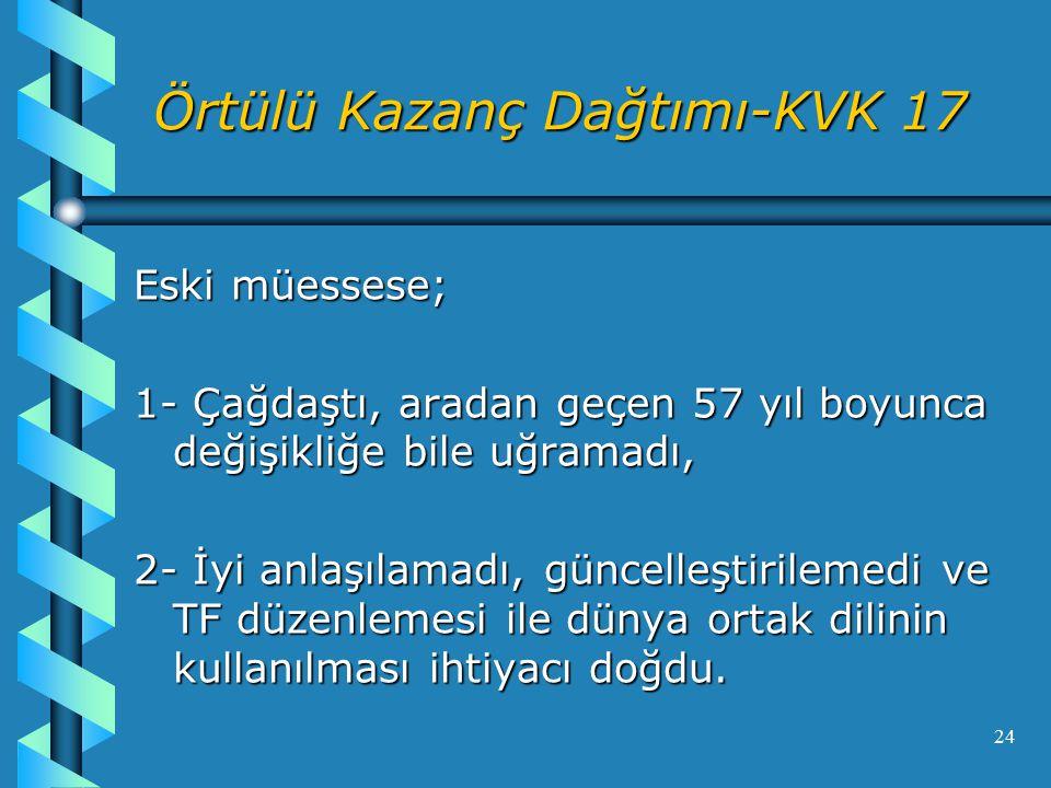 Örtülü Kazanç Dağtımı-KVK 17