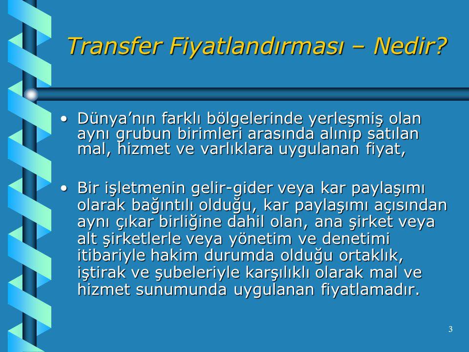 Transfer Fiyatlandırması – Nedir