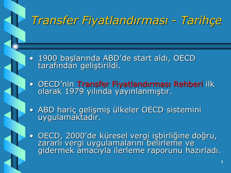Transfer Fiyatlandırması - Tarihçe