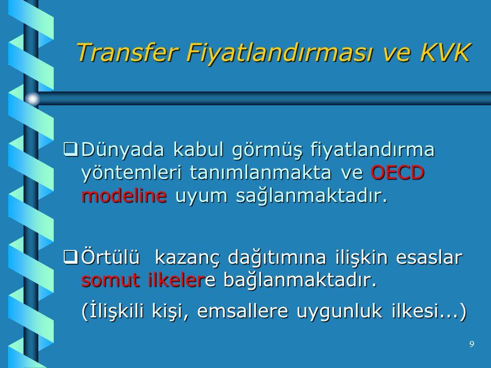 Transfer Fiyatlandırması ve KVK