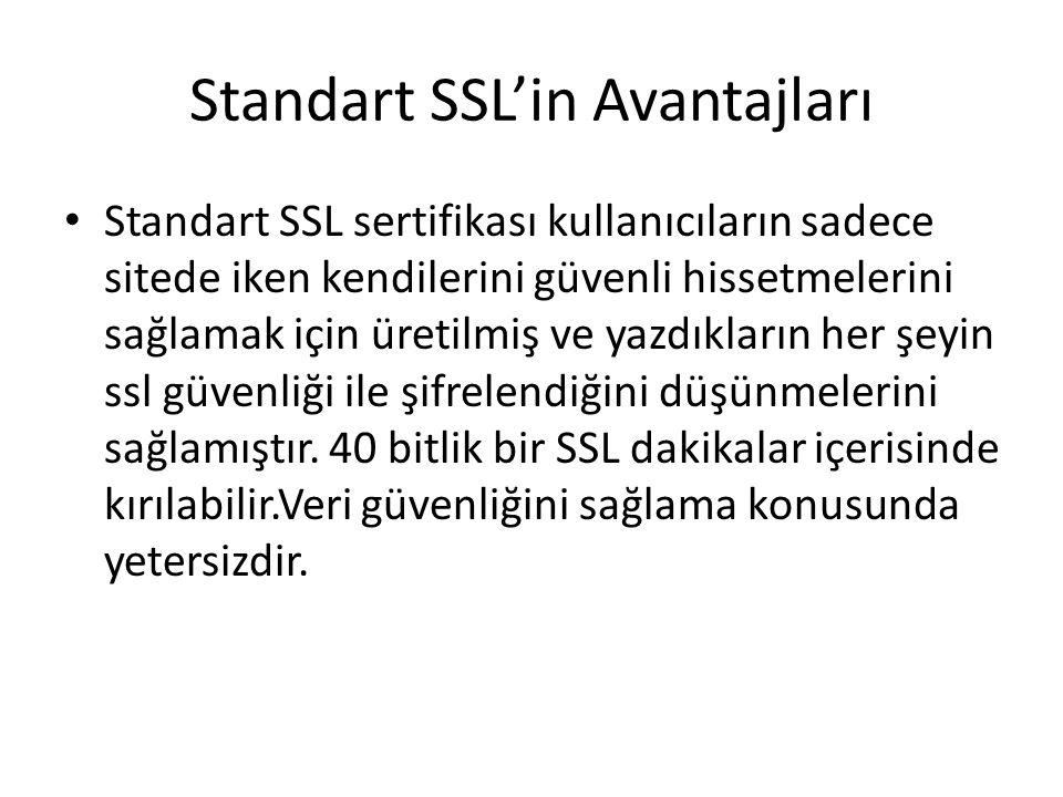 Standart SSL'in Avantajları