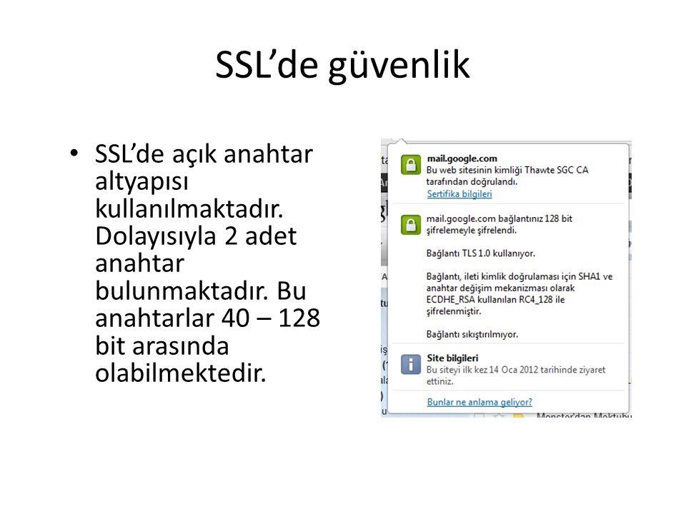SSL'de güvenlik