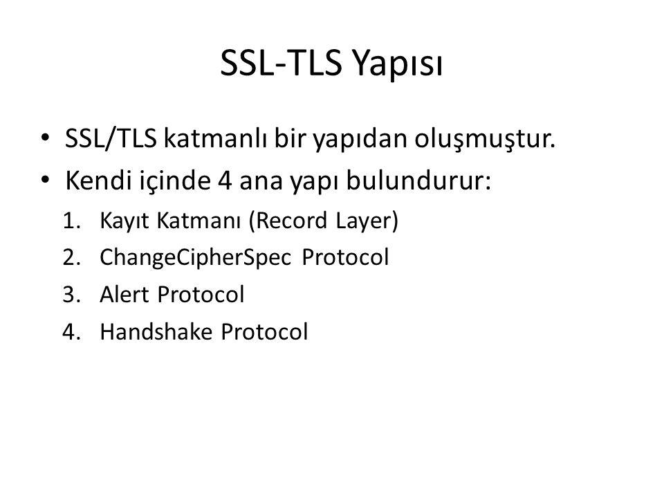 SSL-TLS Yapısı SSL/TLS katmanlı bir yapıdan oluşmuştur.
