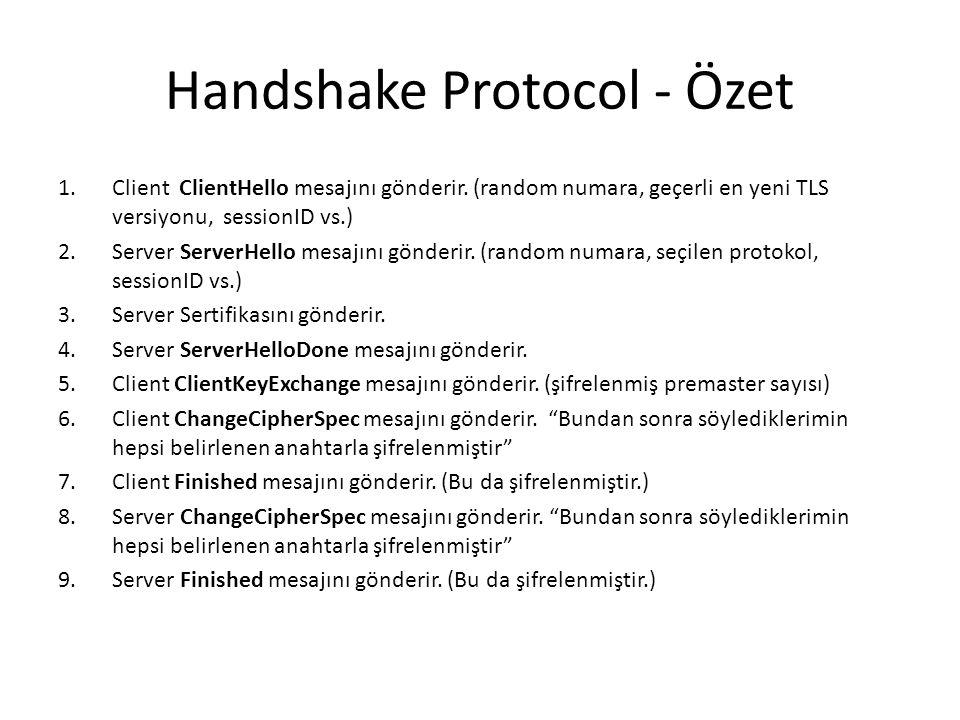 Handshake Protocol - Özet