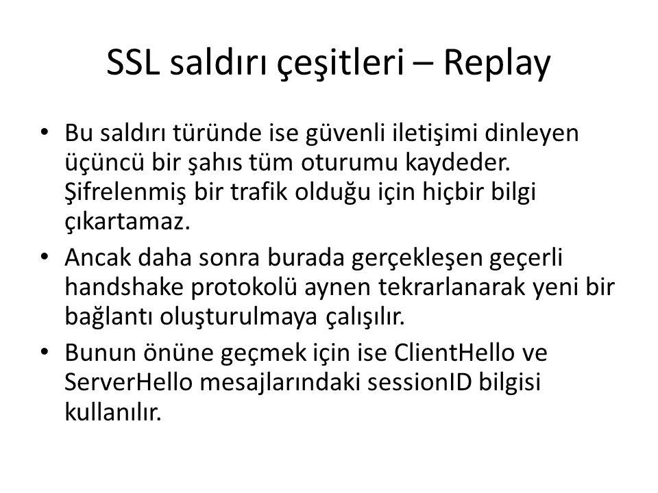 SSL saldırı çeşitleri – Replay