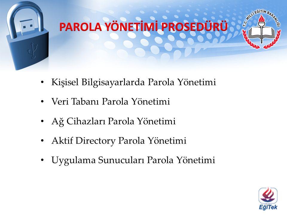 PAROLA YÖNETİMİ PROSEDÜRÜ