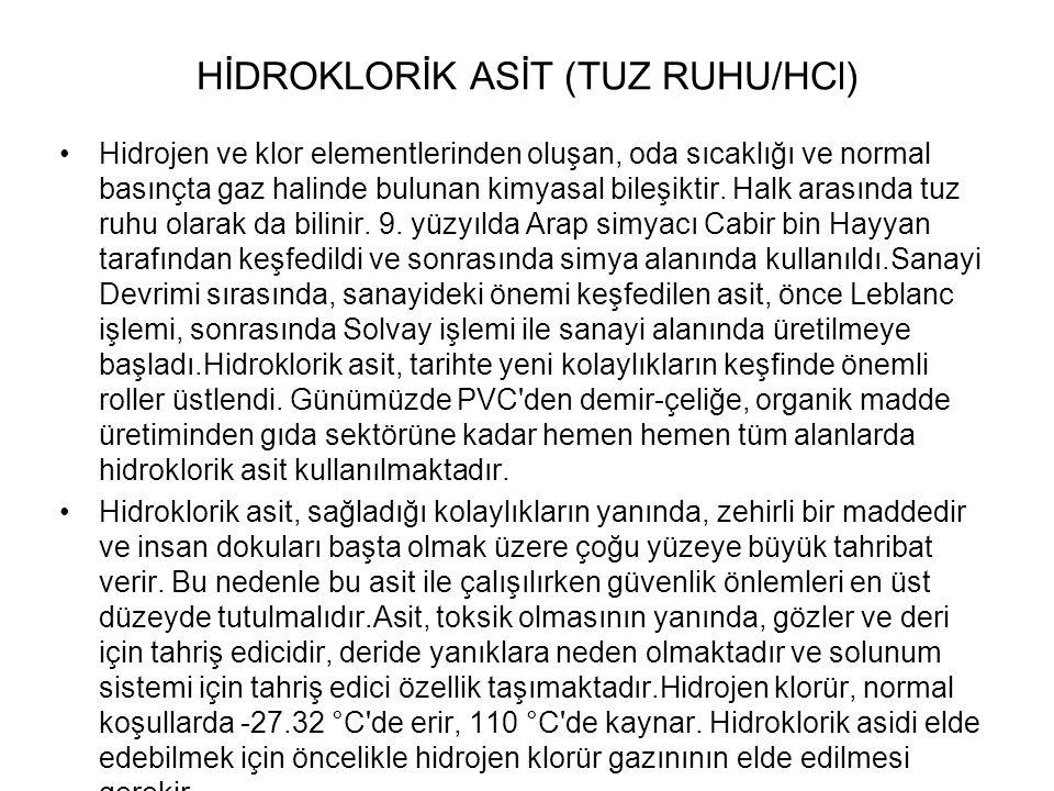 HİDROKLORİK ASİT (TUZ RUHU/HCl)