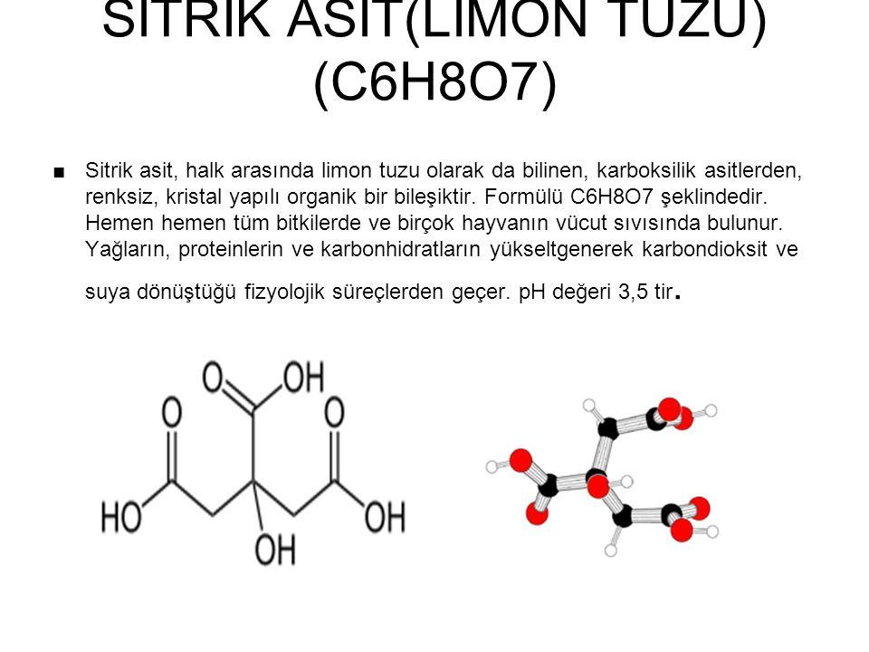 SİTRİK ASİT(LİMON TUZU) (C6H8O7)