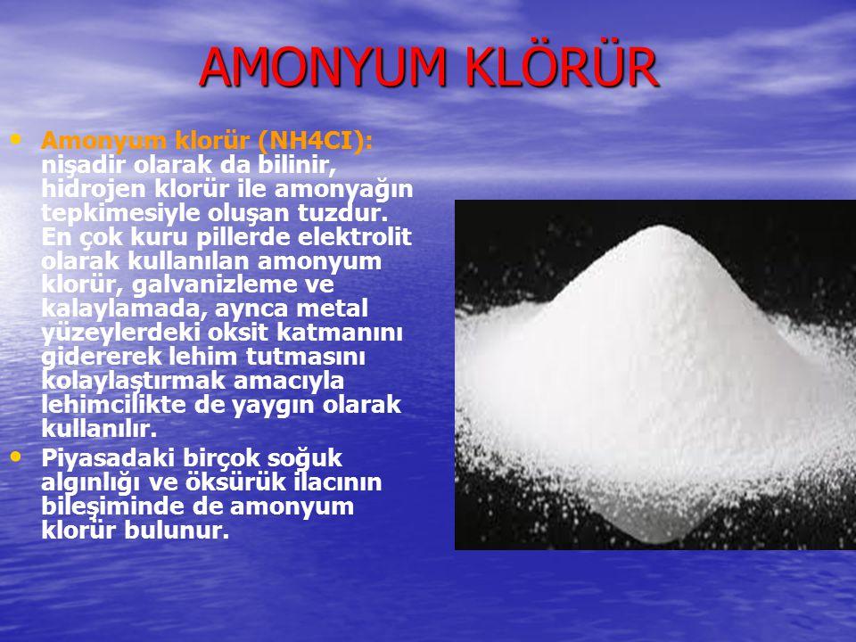AMONYUM KLÖRÜR