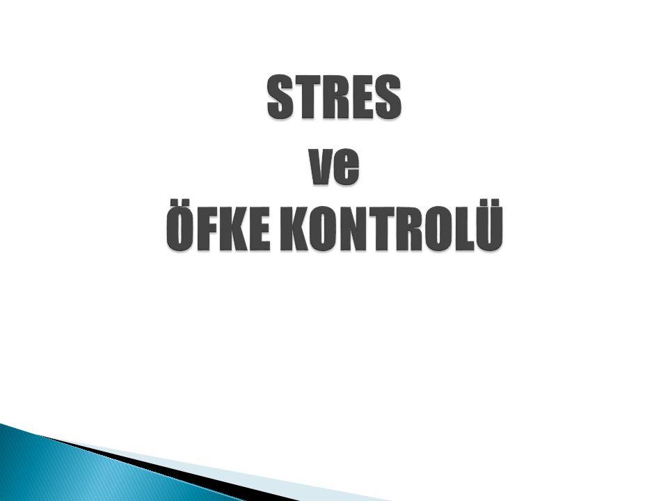 STRES ve ÖFKE KONTROLÜ