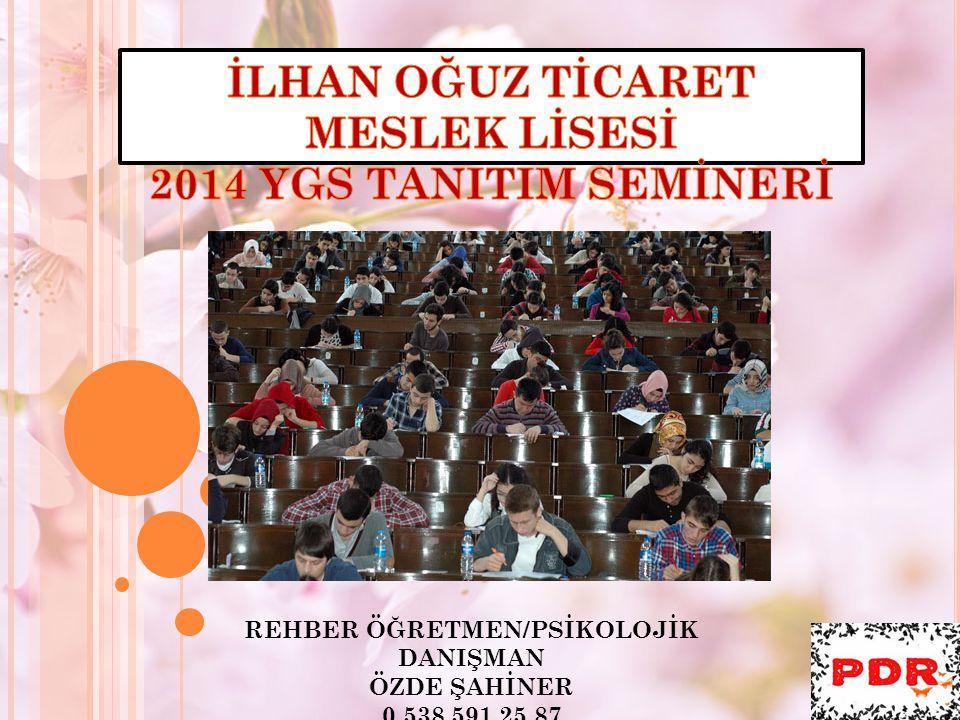 İLHAN OĞUZ TİCARET MESLEK LİSESİ REHBER ÖĞRETMEN/PSİKOLOJİK DANIŞMAN