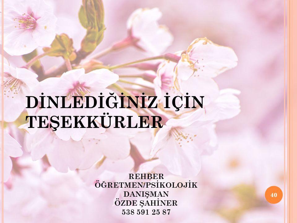 REHBER ÖĞRETMEN/PSİKOLOJİK DANIŞMAN