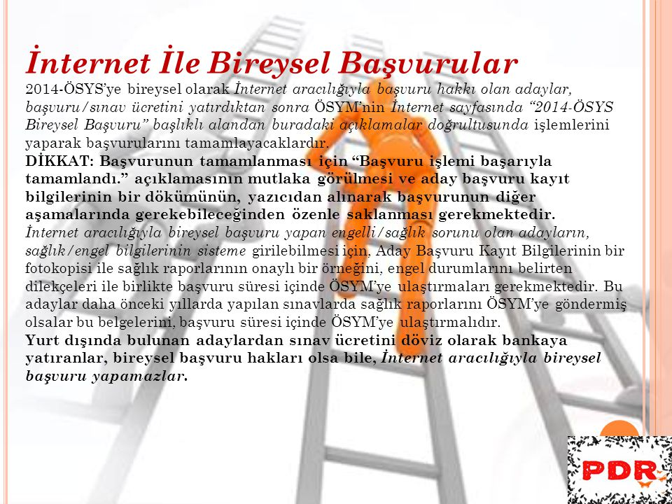 İnternet İle Bireysel Başvurular