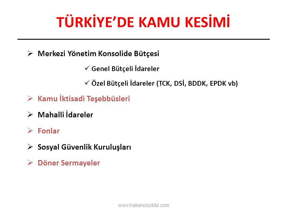 TÜRKİYE'DE KAMU KESİMİ