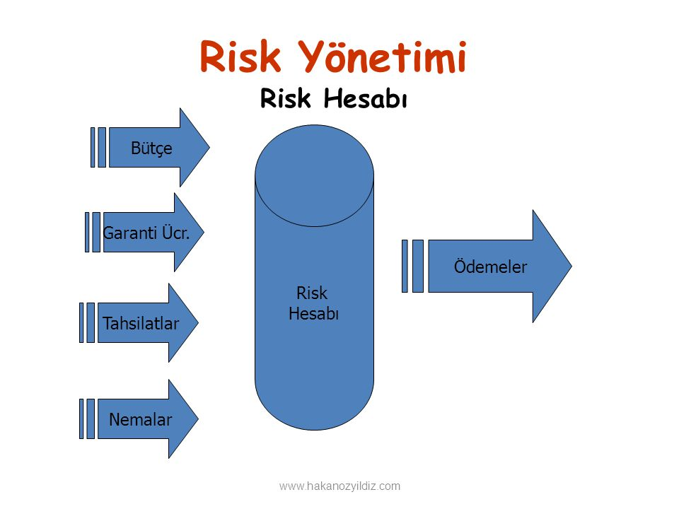 Risk Yönetimi Risk Hesabı Bütçe Risk Garanti Ücr. Hesabı Ödemeler