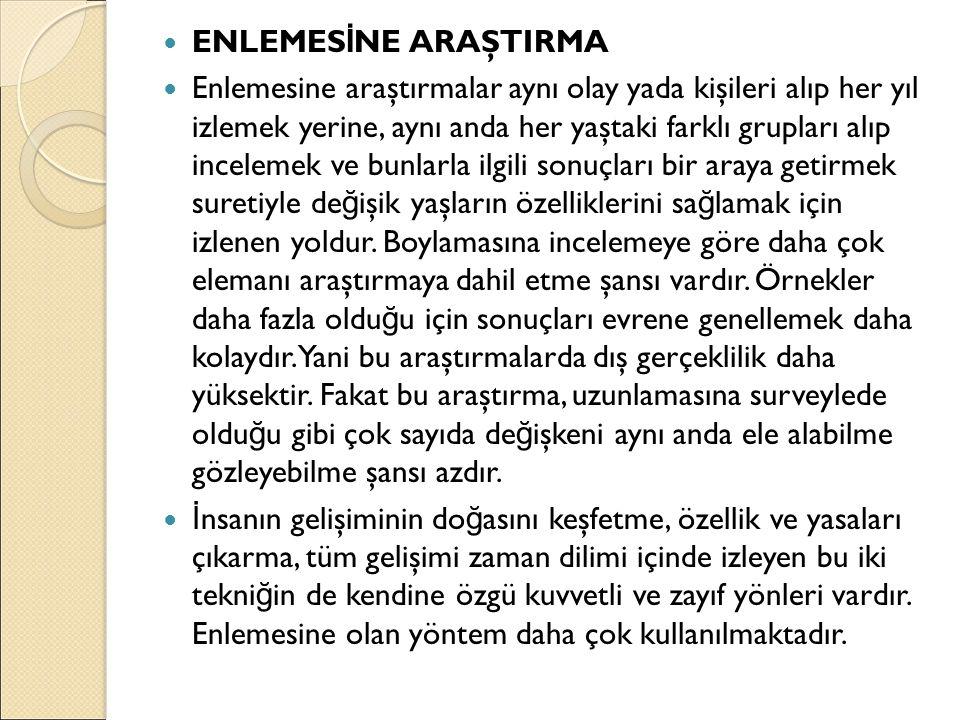 ENLEMESİNE ARAŞTIRMA