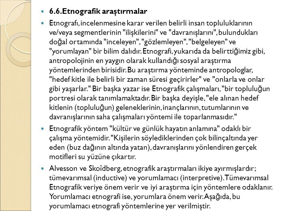 6.6.Etnografik araştırmalar