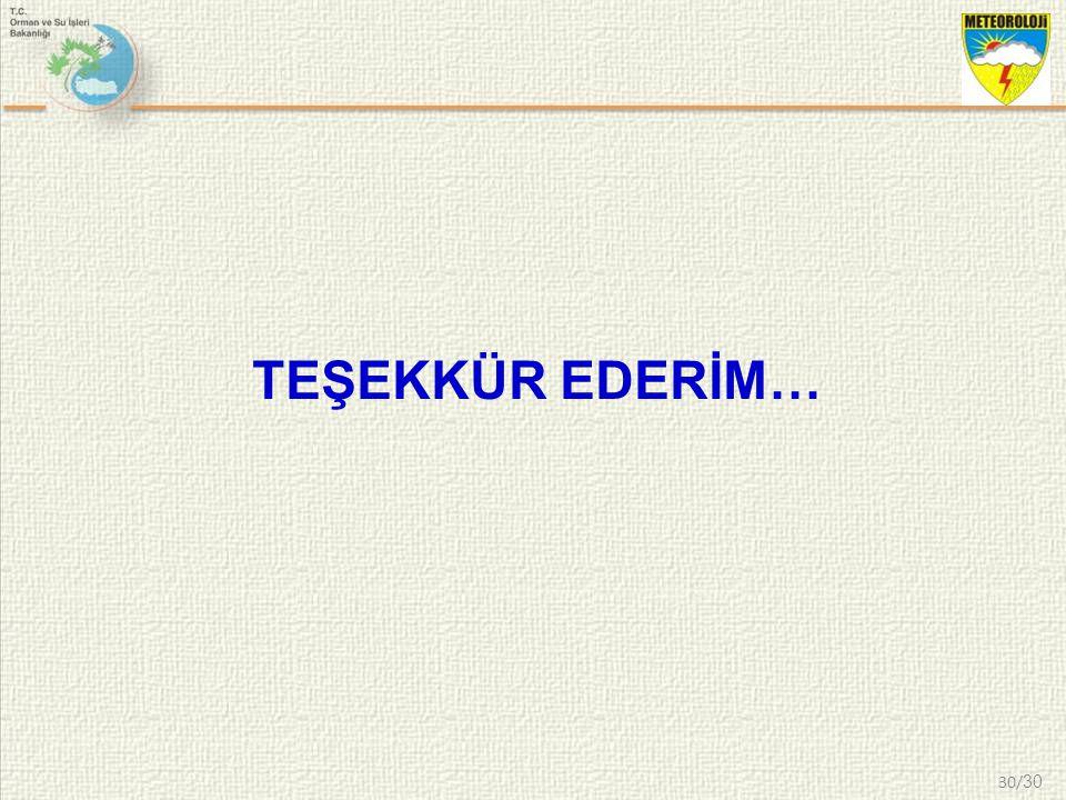 TEŞEKKÜR EDERİM… 30/30 30