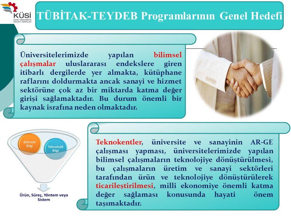 TÜBİTAK-TEYDEB Programlarının Genel Hedefi