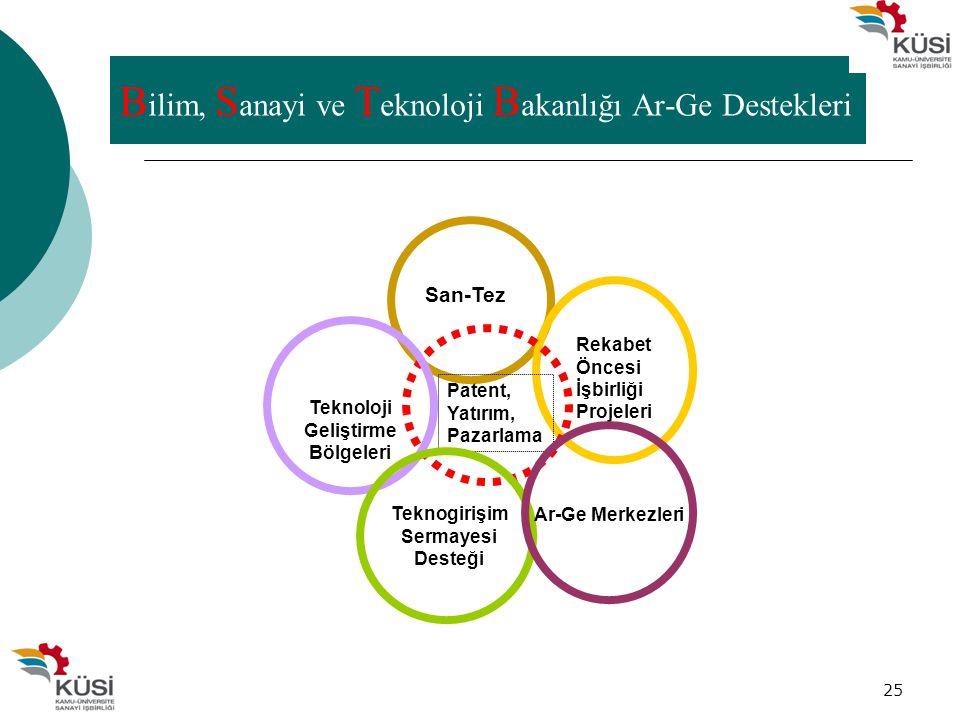 Bilim, Sanayi ve Teknoloji Bakanlığı Ar-Ge Destekleri
