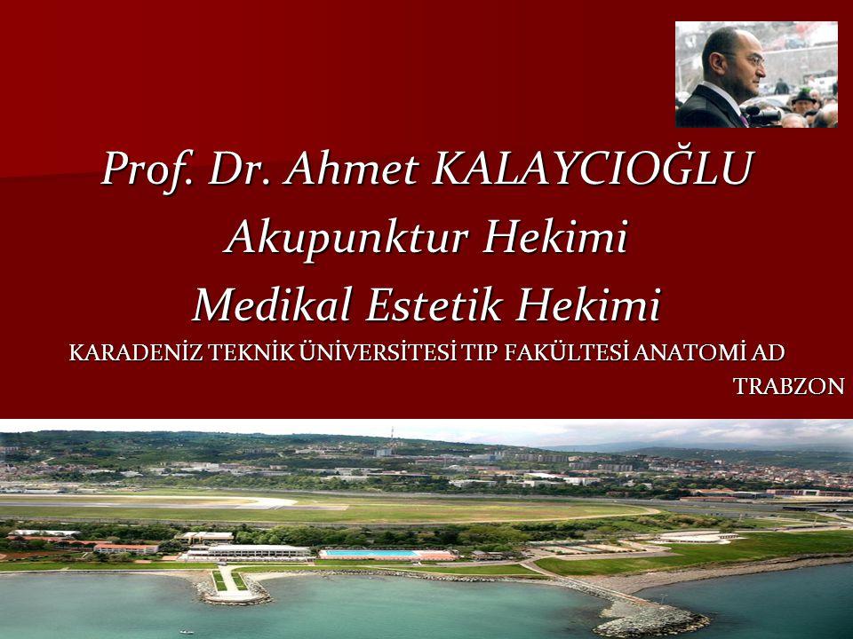 Prof. Dr. Ahmet KALAYCIOĞLU Akupunktur Hekimi Medikal Estetik Hekimi