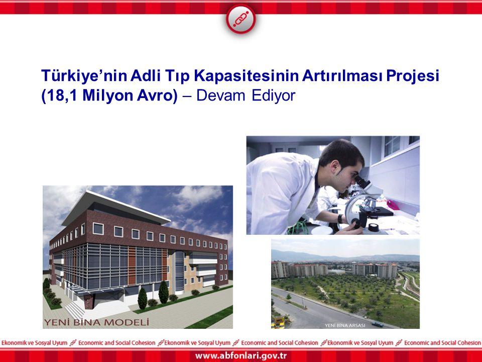 Türkiye'nin Adli Tıp Kapasitesinin Artırılması Projesi (18,1 Milyon Avro) – Devam Ediyor