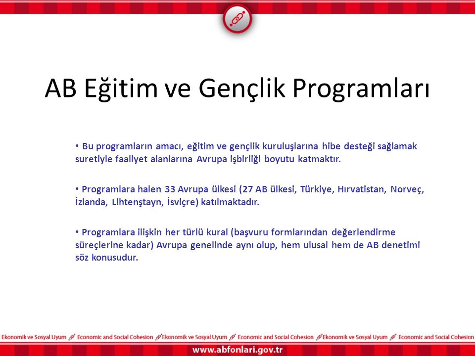 AB Eğitim ve Gençlik Programları