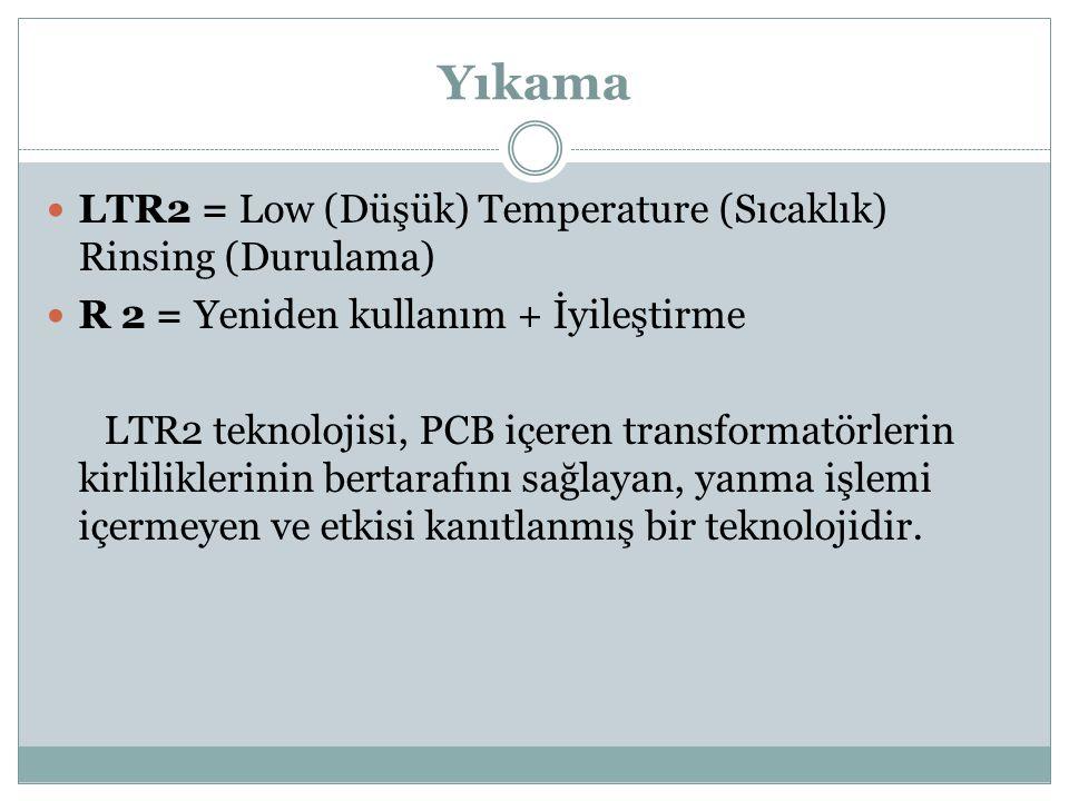 Yıkama LTR2 = Low (Düşük) Temperature (Sıcaklık) Rinsing (Durulama)