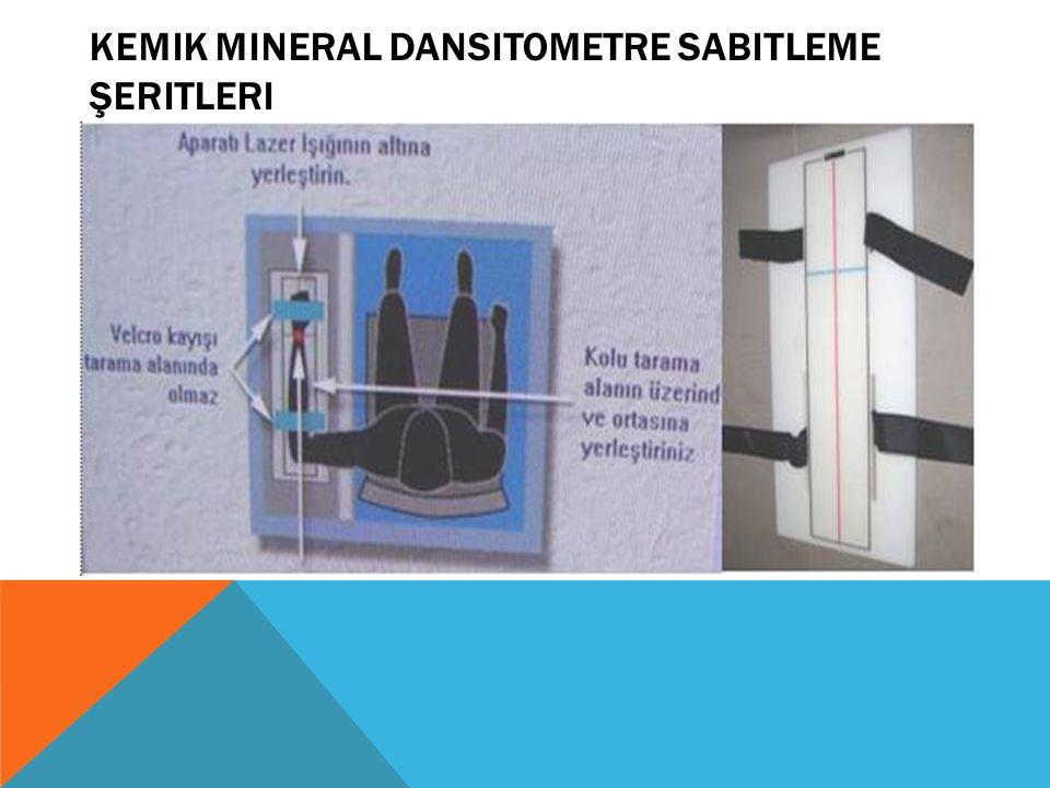 Kemik mineral dansitometre sabitleme Şeritleri